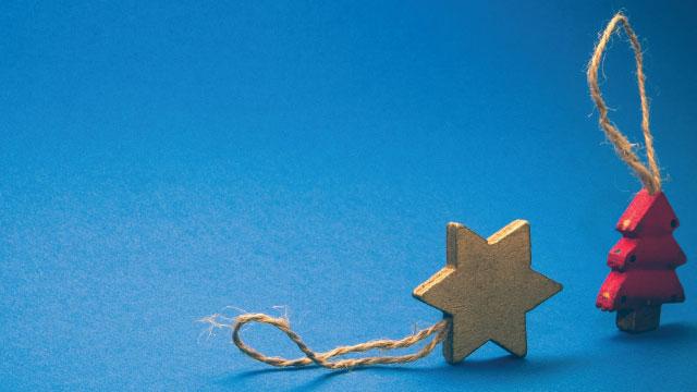 Decoração natalina sem a estrela de Davi