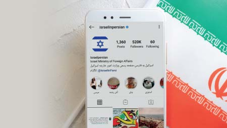 Crescimento das redes sociais de Israel no idioma farsi